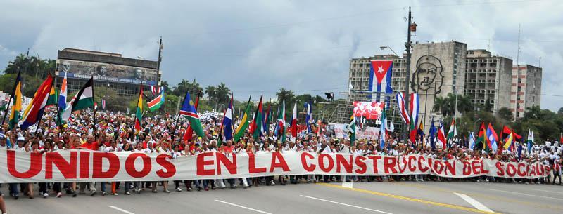 """Transparent in Havanna: """"Vereint im Aufbau des Sozialismus"""""""