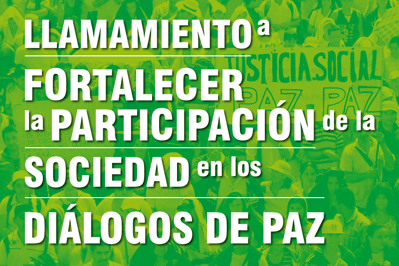 Aufruf zur Stärkung der gesellschaftlichen Partizipation an den Friedensgesprächen