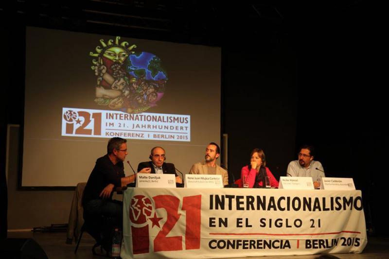 Die Podiumsdiskussion am Samstag über internationalistische Perspektiven wurde von amerika21-Redakteur Harald Neuber moderiert
