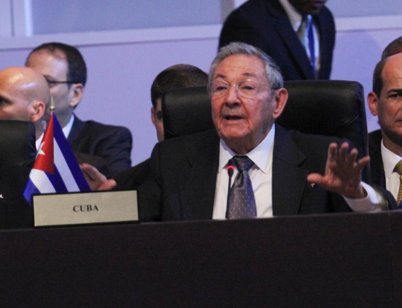 Kubas Präsident Raúl Castro bei seiner Ansprache