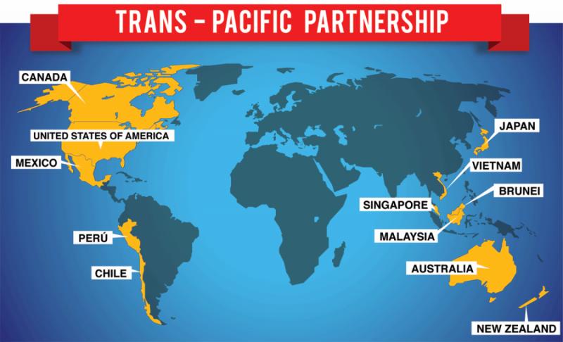 Die aktuellen Mitgliedsstaaten bei den TPP-Verhandlungen