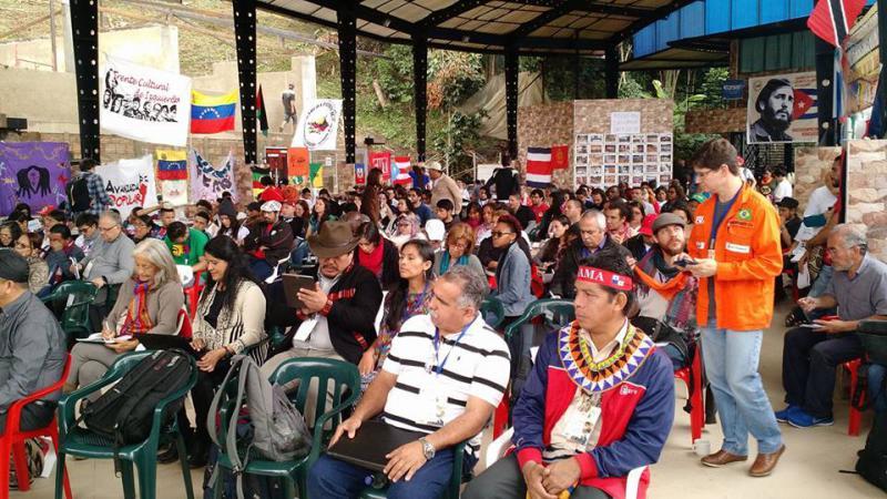 Teilnehmer aus allen Teilen des Kontinents auf dem Treffen der Alba-Bewegungen