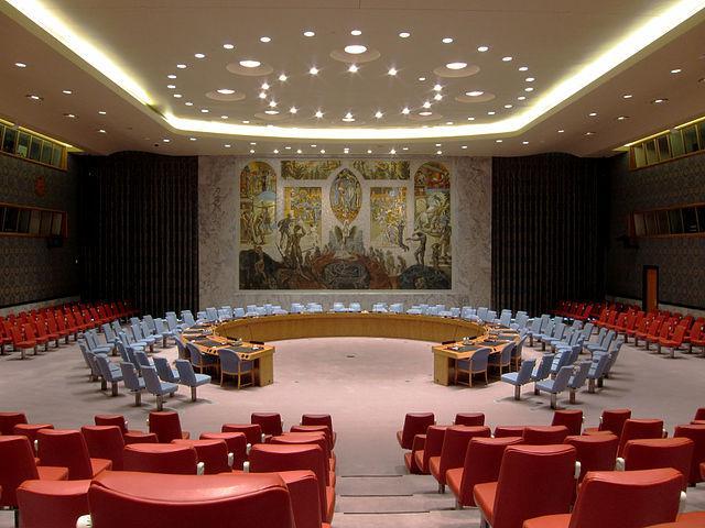 Sitzungssaal des Sicherheitsrates im UN-Hauptquartier in New York