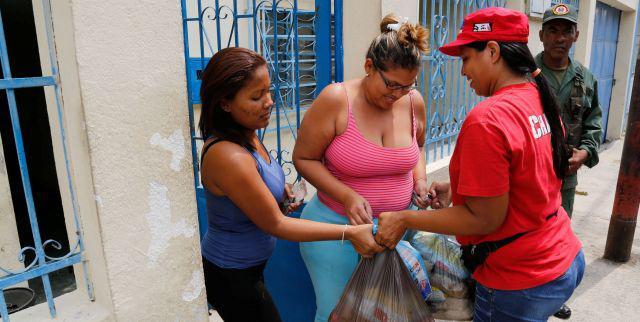 Verteilung von Lebensmitteln in Venezuela