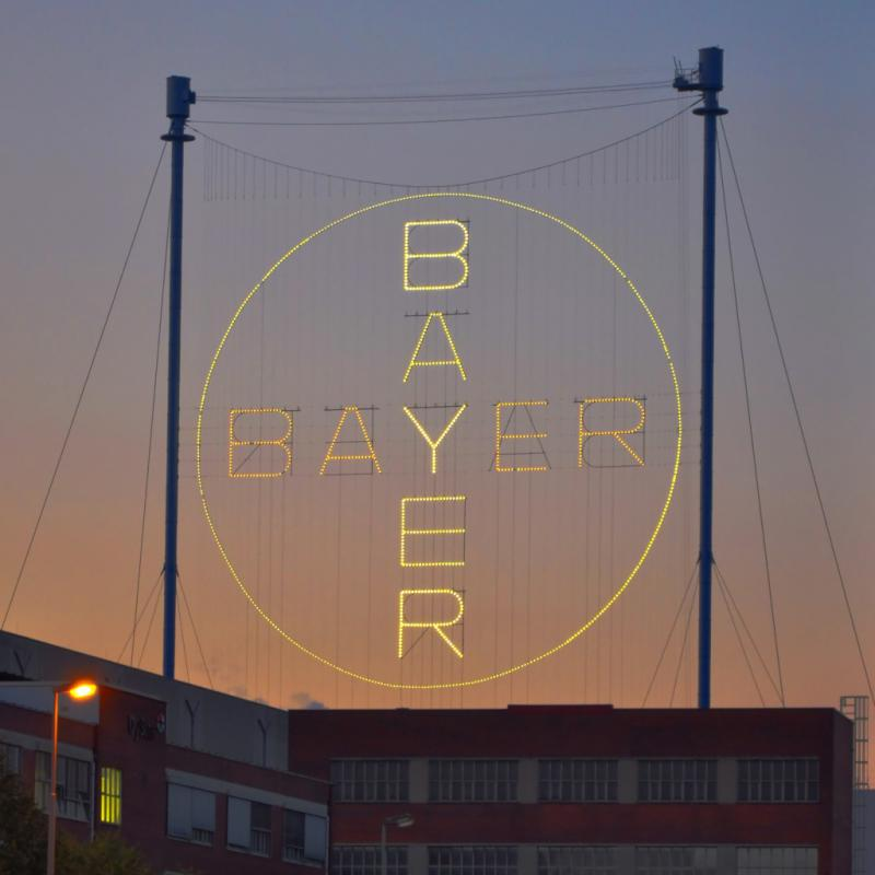 Das Bayer-Kreuz in Leverkusen