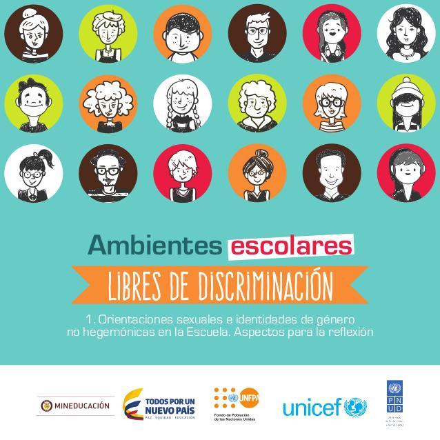 "Titelblatt des Leitfadens ""Ambientes Escolares Libres de Discriminación"""
