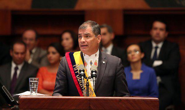 Staatschef Rafael Correa zieht nach neun Jahren Präsidentschaft Bilanz