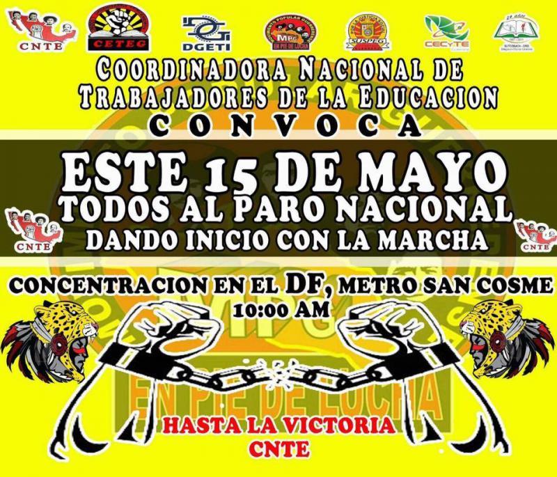 Aufruf der Nationalen Unabhängigen Lehrergewerkschaft zum Streik ab dem 15. Mai