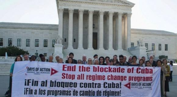 """US-Aktivisten in Washington fordern das Ende der Blockade und der """"Regime change""""- Programme gegen Kuba"""