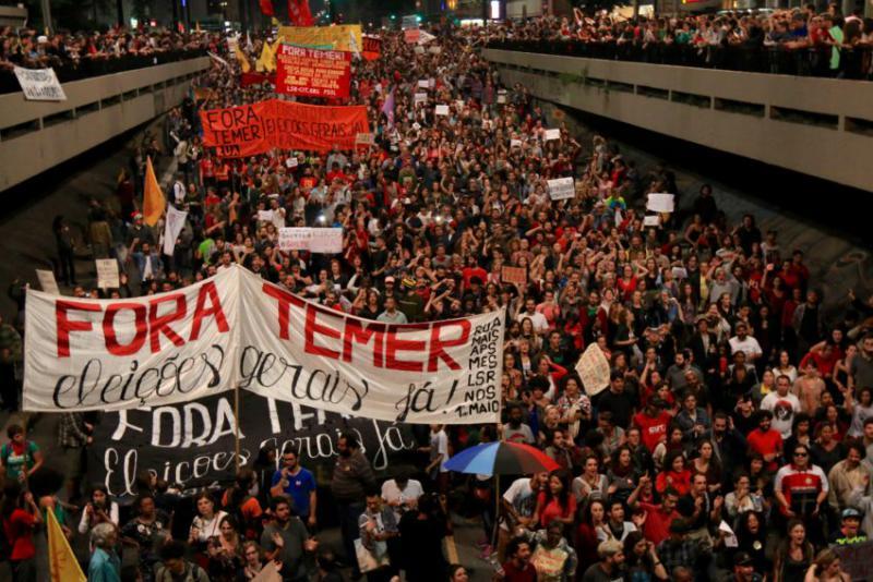 Bei einer Demonstration am 4. September in São Paulo forderten Zehntausende Neuwahlen