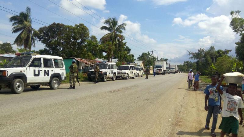 UN-Soldaten nach dem Hurrikan Matthew in Haiti