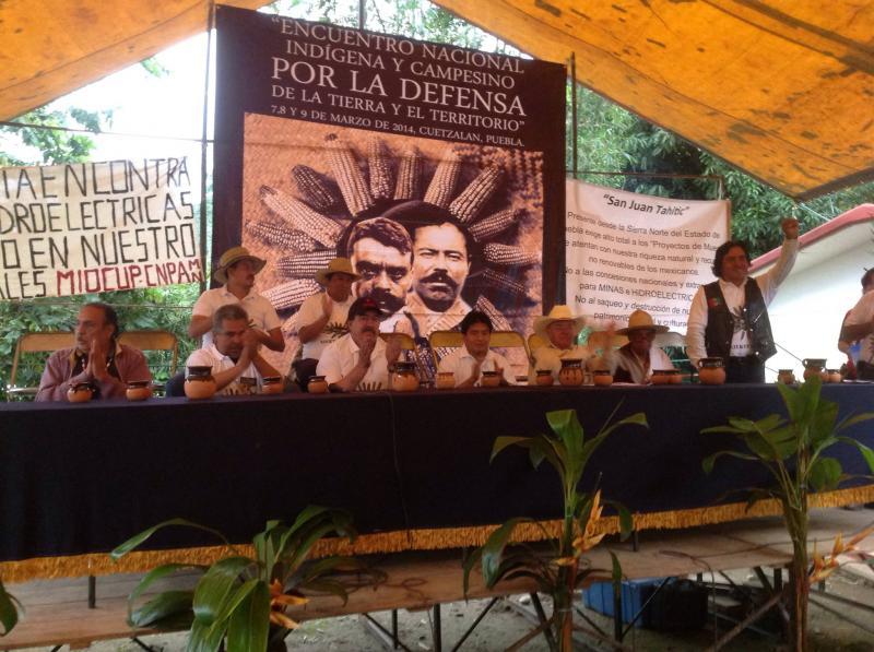 FICAM beim Treffen von Indigenen und Bauern in Mexiko-Stadt