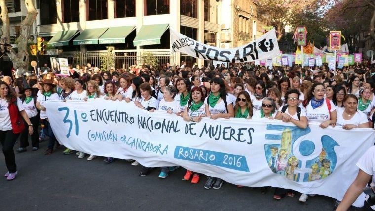 Zur Demonstration aufgerufen hatten die Organisatorinnen des 31. Frauenkongresses