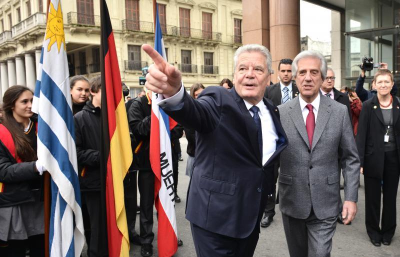 Bundespräsident Gauck und Uruguays Präsident Tabaré Vazquez (rechts)