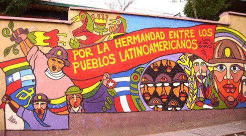 Wandbild für die Integration Lateinamerikas