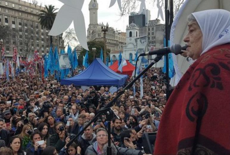 """Ruft ihre Anhänger wieder zu """"Demonstrationszüge des Widerstands"""" auf: Hebe de Bonafini"""