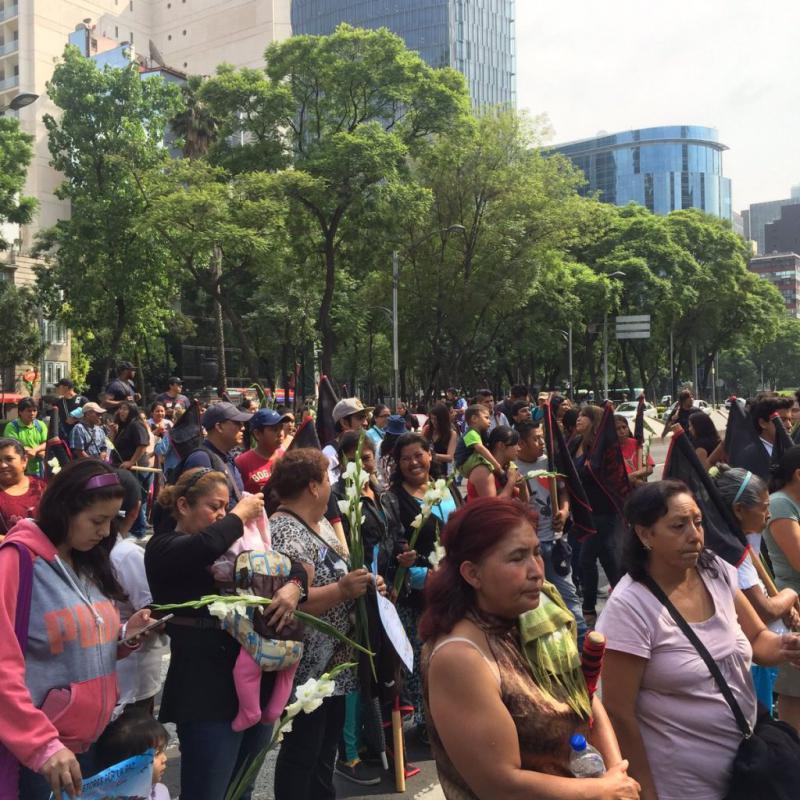 Kundgebung vor der US-Botschaft in Mexiko-Stadt