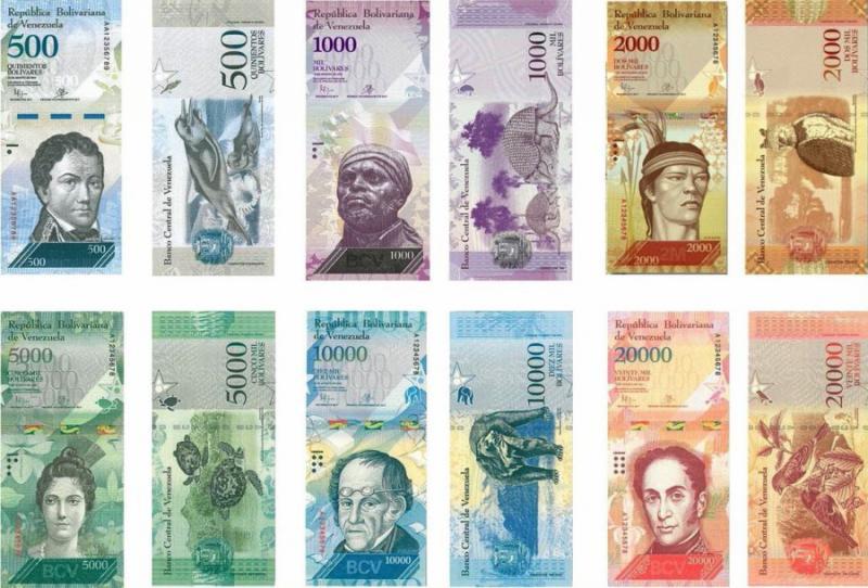 Die neuen Geldscheine in Venezuela