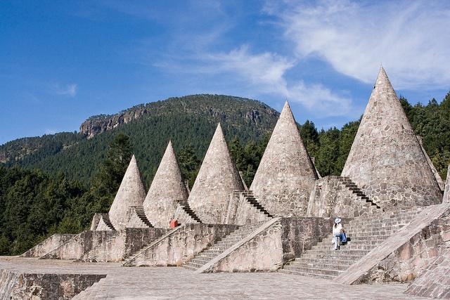 Gebäude der Otomí-Volksgruppe in Mexiko. Ein ähnliches Bauwerk nahe Hidalgo wurde nun zerstört