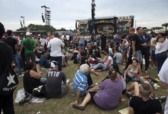Ab dem frühen Nachmittag war das Gelände für die Zuschauer geöffnet