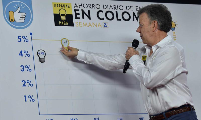 Kolumbien muss Energie sparen
