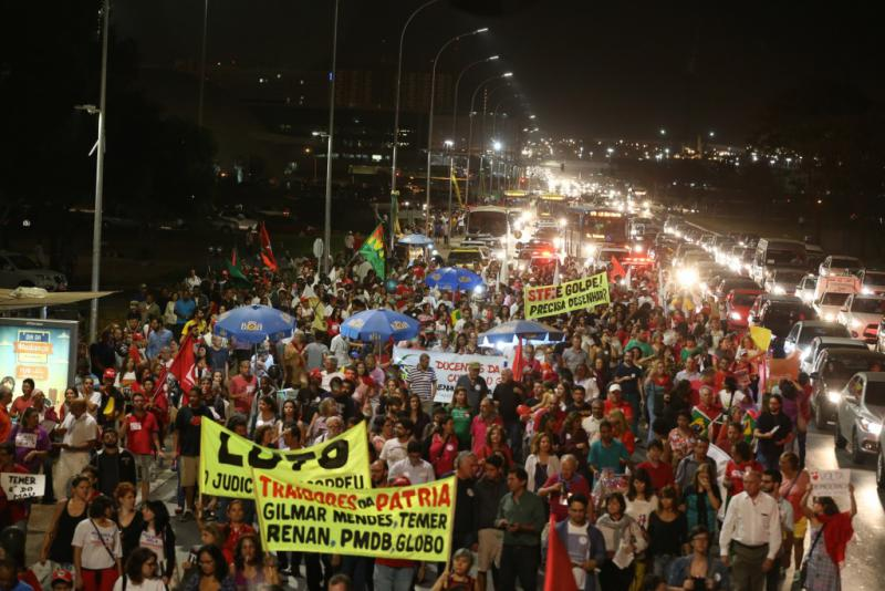 Protestmarsch in der Hauptstadt Brasília