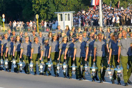 Miliz bei der Parade.