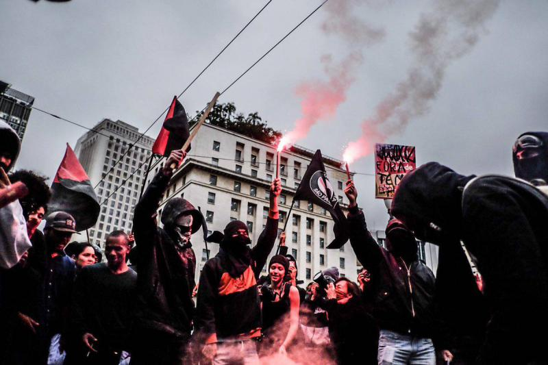 Autonome Gruppen bei den Protesten in São Paulo