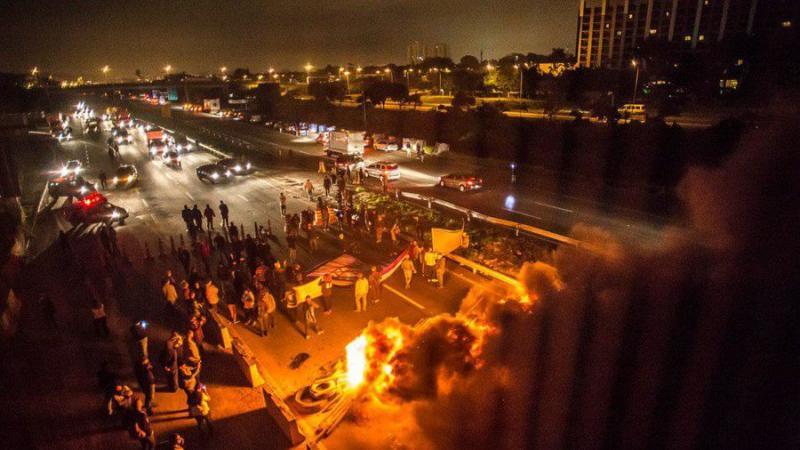 Blockade des Flughafens von Guarulhos