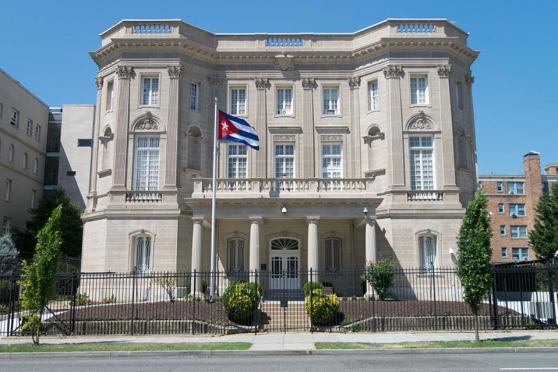 Die kubanische Botschaft in Washington