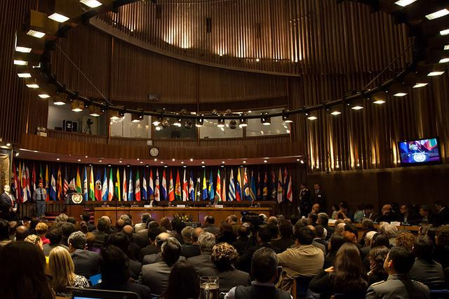 Sitzungssaal der Cepal in Santiago de Chile