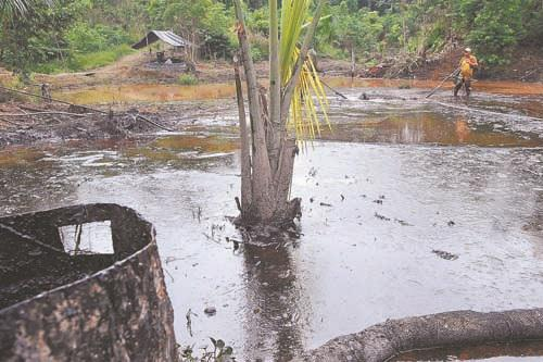 Verseuchung durch Texaco/Chevron in Ecuador