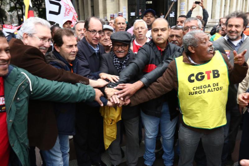 Die neun größten Gewerkschaftsverbände Brasiliens hatten gemeinsam zum Streik aufgerufen