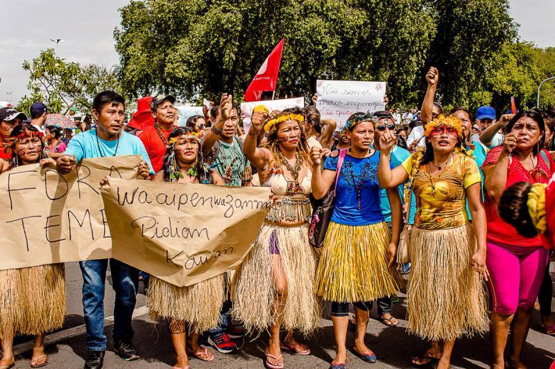 Indigene Gruppen beteiligten sich ebenfalls