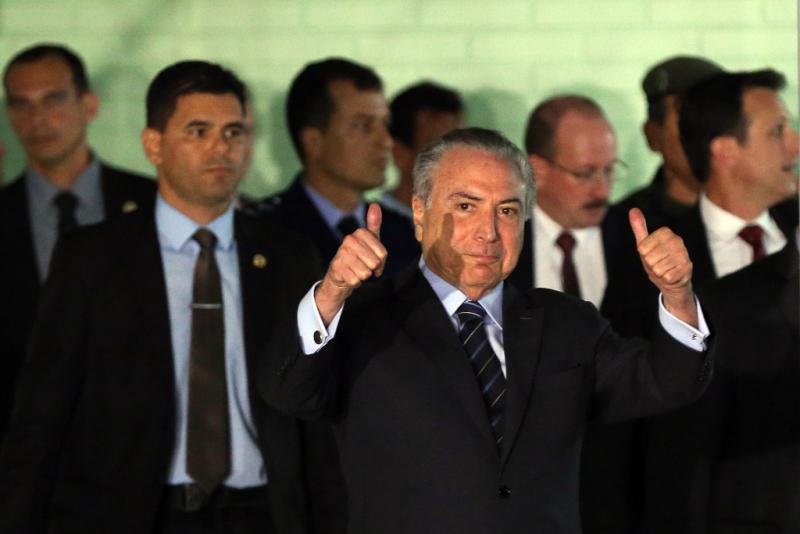 """Sieht sich indes als """"Opfer einer Verschwörung"""": Brasiliens De-facto-Präsident Temer am Mittwoch"""