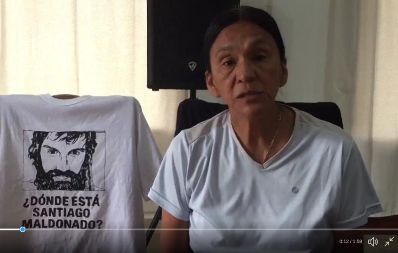 Milagro Sala spricht in einem Video aus dem Hausarrest über das Verschwindenlassen von Santiago Maldonado