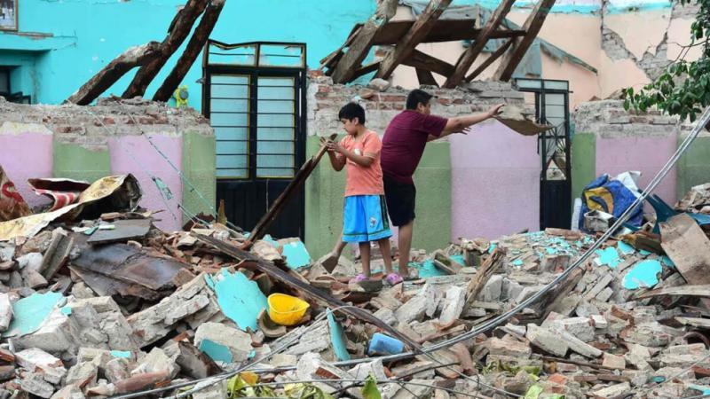 Zerstörungen in San Dionisio del Mar, Oaxaca