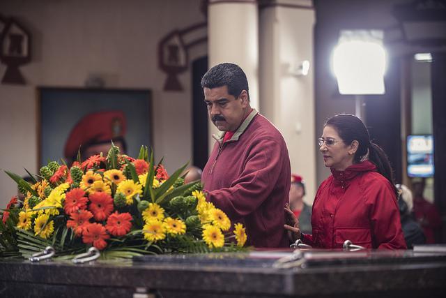 Nicolás Maduro am Grab von Hugo Chávez: Geld aus Brasilien?