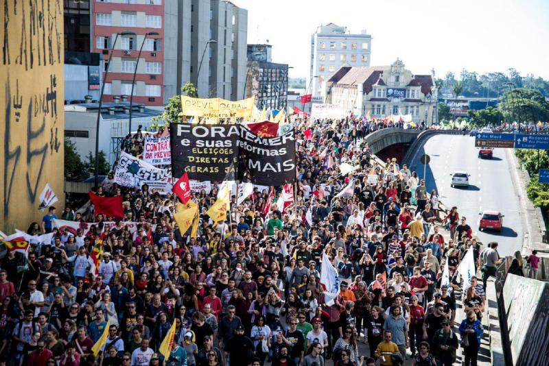 Porto Alegre im Streik