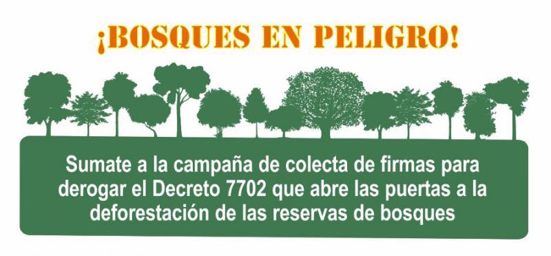 Umweltorganisationen protestieren mit der Kampagne  #YoVotoPorLosBosques gegen das Dekret von Paraguays Präsident Cartes