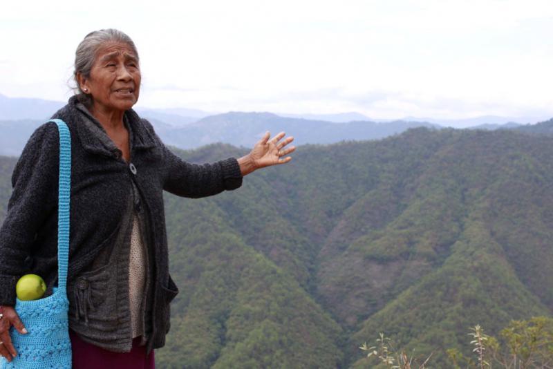Herlinda Solano will keinen Bergbau auf dem Territorium der Me'phaa-Gemeinde im Hochland von Guerrero, Mexiko