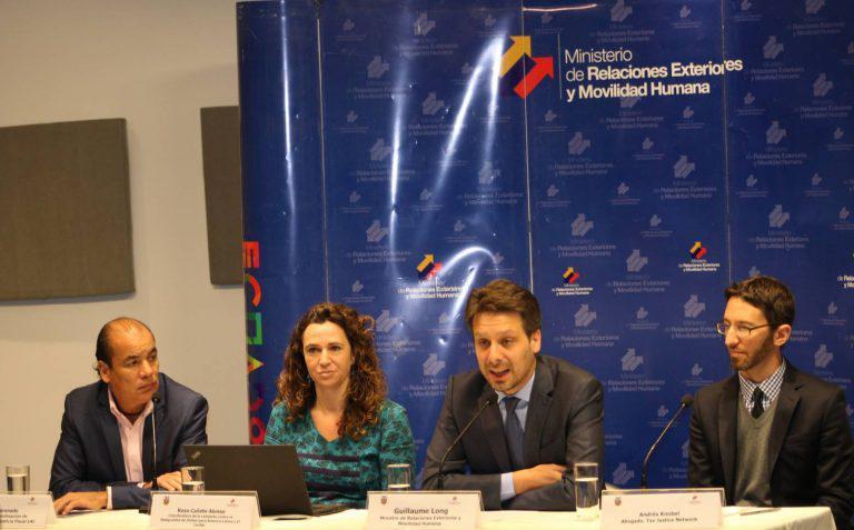 Ecuadors Außenminister Long eröffnete das Seminar