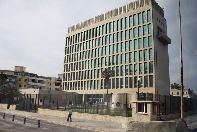 Die Botschaft der USA in Havanna, Kuba