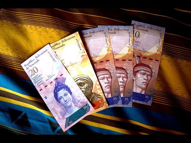 Der Bolívar, die Landeswährung von Venezuela