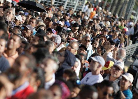 Wähler zur verfassunggebenden Versammlung in Venezuela