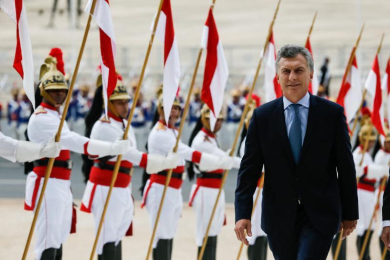 Argentiniens Präsident Macri bei einem Staatsbesuch in Brasilien