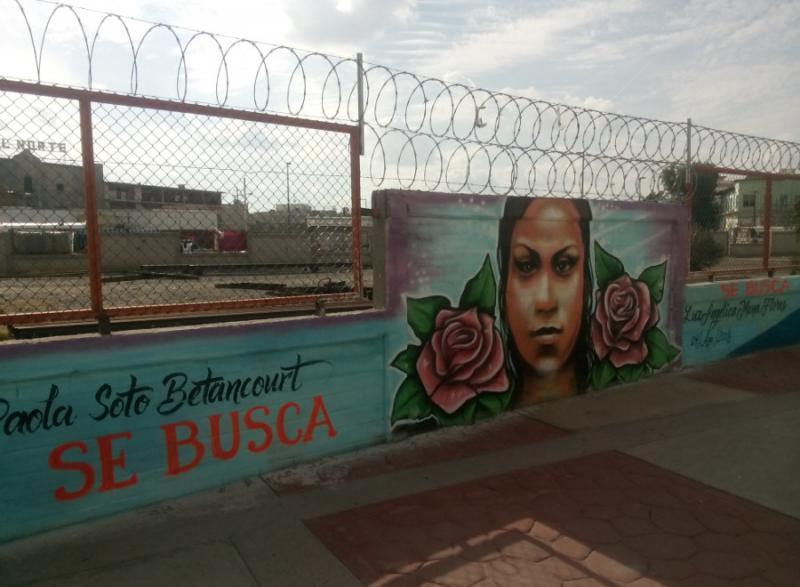 Eines von vielen Wandgemälden in der Stadt, die versuchen, die Erinnerung an die Verschwundenen und die Forderung nach Gerechtigkeit wachzuhalten