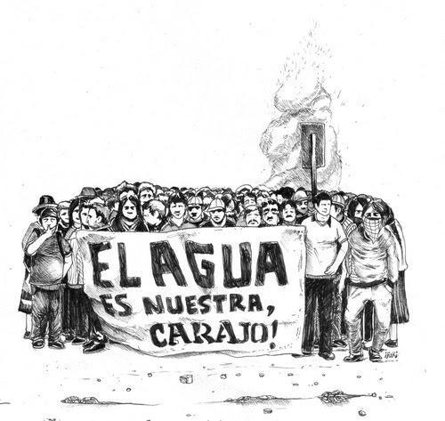 """""""Das Wasser gehört uns, verdammt"""" – Karikatur aus Bolivien"""