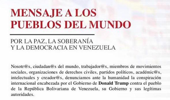 """Aufruf zum weltweiten Kongresses """"Wir alle sind Venezuela"""""""