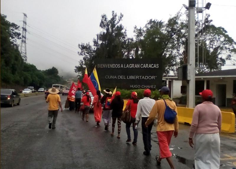 In den frühen Morgenstunden des 1. August traf der Marsch im Hauptstadtbezirk Groß-Caracas ein